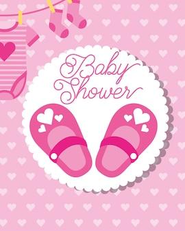 Розовые туфли носки