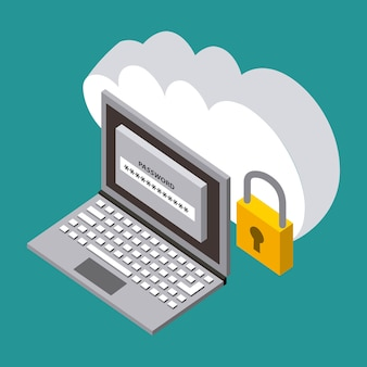 クラウドコンピューティングストレージラップトップセキュリティデータ技術