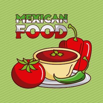 Мексиканский пищевой перец чили перец томатный соус традиционный