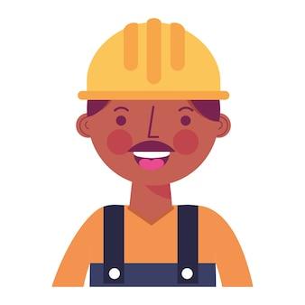 ヘルメットと建設労働者