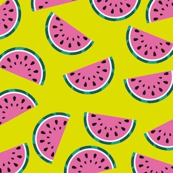 Арбуз фруктовый сочный свежий бесшовный узор