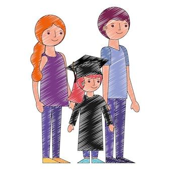 女の子の両親がアバターキャラクターを卒業