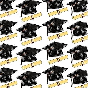 Диплом пергамента и шляпы