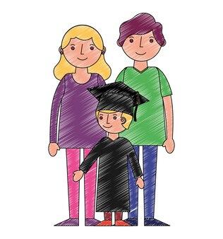 少年の両親がアバターを卒業した