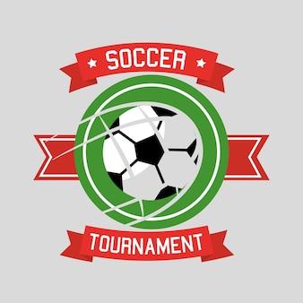 サッカートーナメントボールスポーツバナーリボン