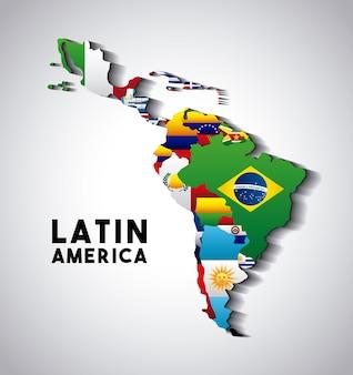 ラテンアメリカの地図