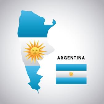 アルゼンチンの国のデザイン