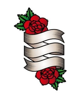 バラ入れ墨のデザイン