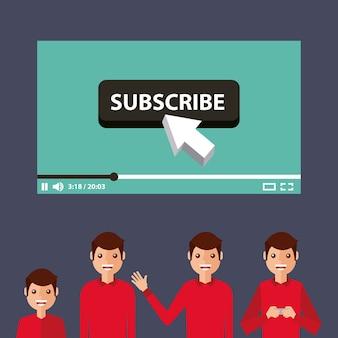 Подписывать видео человека