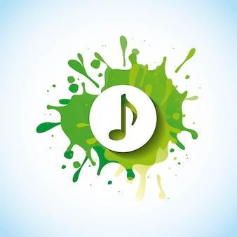 Музыкальная нота дизайн векторная иллюстрация