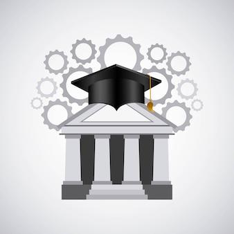 教育セットフラットアイコン