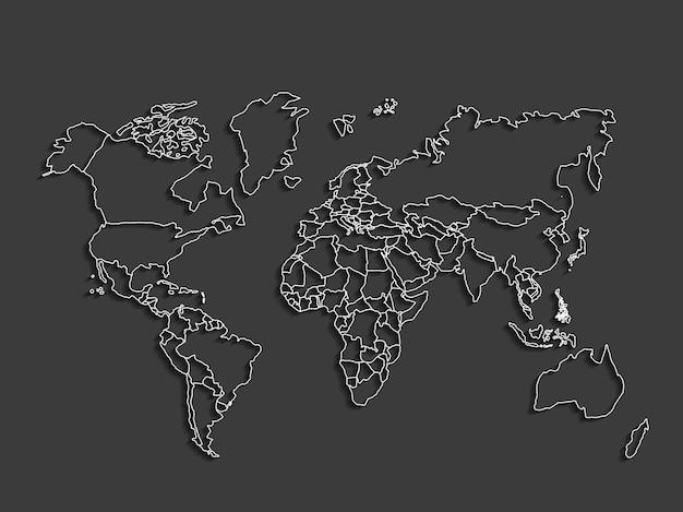 世界の地球の惑星