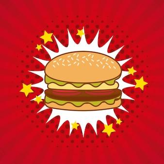 Гамбургер комикс поп-арт