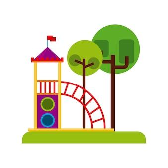 美しい子供たちの遊び場のアイコン