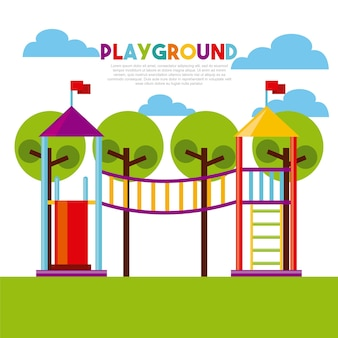 美しい子供たちの遊び場
