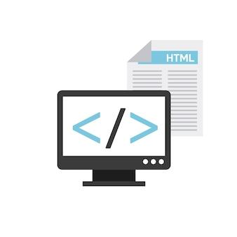 ソフトウェアプログラミングの概念アイコン