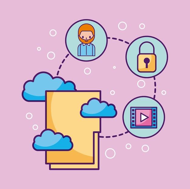 フォルダファイルクラウドコンピューティングは、情報システム技術を接続