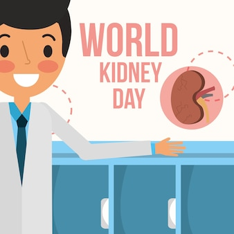 医師専門の世界の腎臓の日のキャンペーン