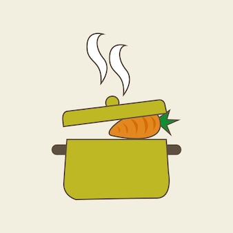 ニンジン野菜のアイコン