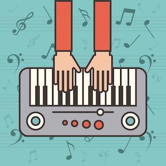 Значок инструмента фортепиано
