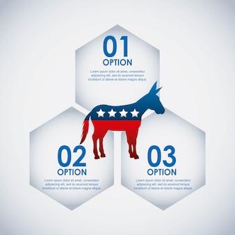 民主党、アメリカ、隔離された、アイコン