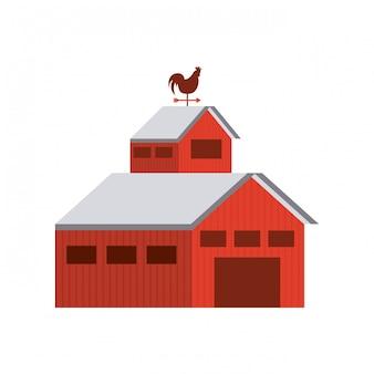 安定した農場の孤立したアイコン