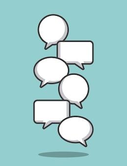 コミュニケーションスピーチバブル