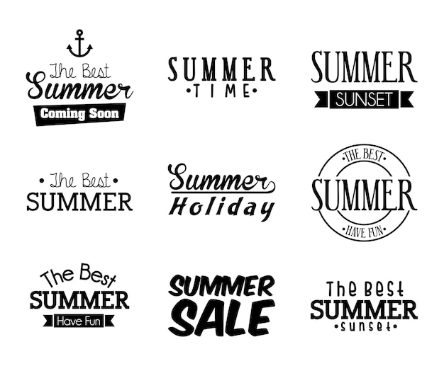 白い背景ベクトルのイラスト以上の夏のデザイン