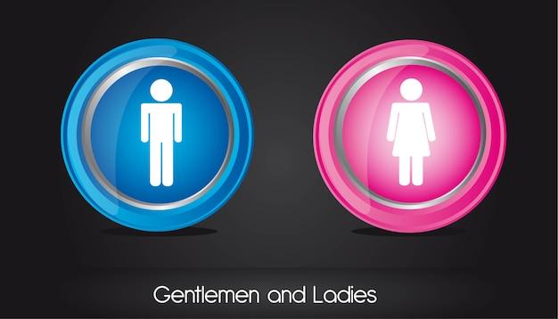 紳士と女性の円記号