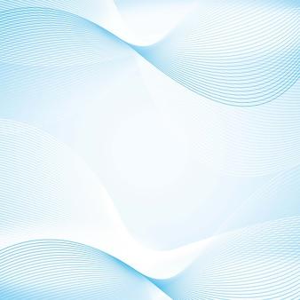 コピーベクトル図のためのスペースと青い波の背景