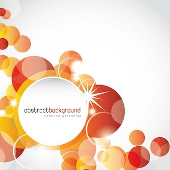 オレンジ色の円の形、背景。ベクトルイラスト