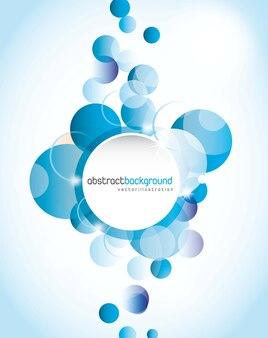 青いデザインの背景、円の形。ベクトルイラスト