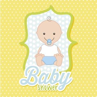 赤ちゃん、黄色、背景、ベクトル、イラスト