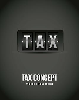灰色の背景ベクトル図上の税アイコン