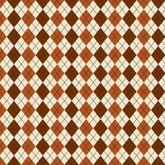 菱形のパターンのベージュの背景ベクトル図