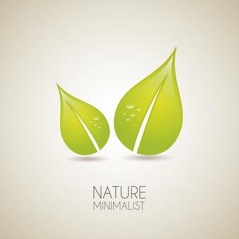 Природа минималистский на фоне старинных