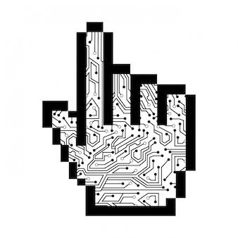 白い背景ベクトル図の上にポインタのデザイン