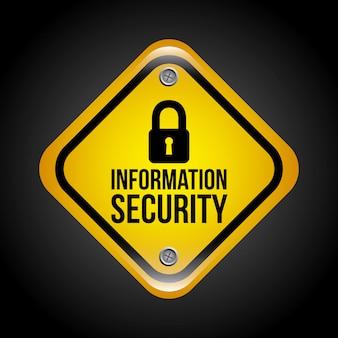 黒い背景の上に情報セキュリティ