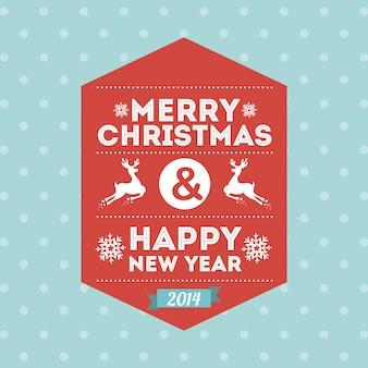 メリークリスマスと幸せな新年点在の背景ベクトル図