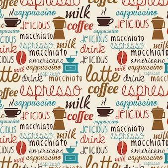 ベージュの背景ベクトル図の上にコーヒーのデザイン