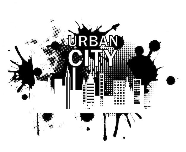 都市のラベル、白、背景、ベクトル、イラスト