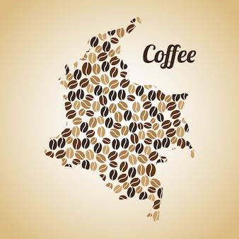 Дизайн кофе на бежевом фоне векторных иллюстраций
