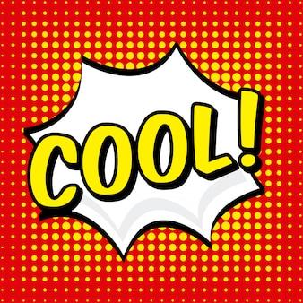 Комическая иконка над пунктиром фон векторная иллюстрация