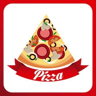 Дизайн питания на красном фоне векторных иллюстраций