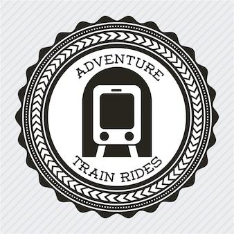 Дизайн поезда на сером фоне векторные иллюстрации