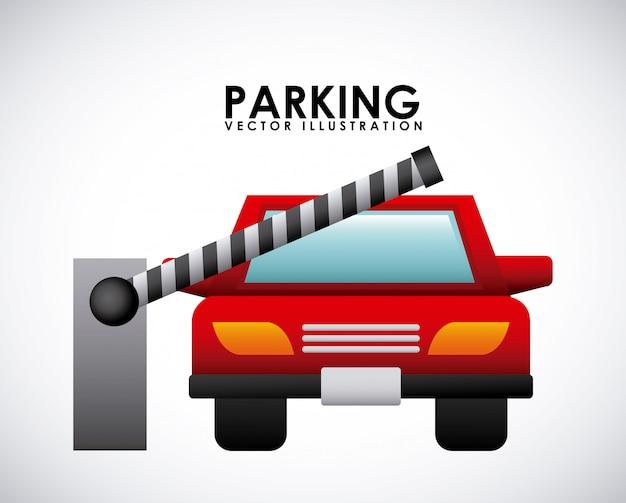 灰色の背景ベクトル図上の駐車信号