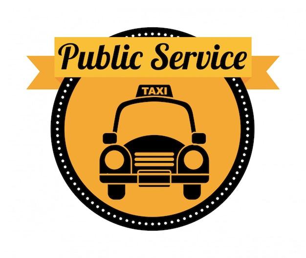 白背景ベクトル上の公共サービス