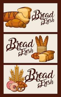 Хлеб свежие баннеры вкусные