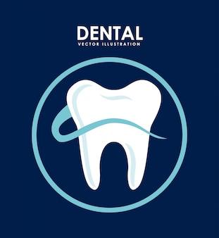 歯科デザイン、青、背景、ベクトル、イラスト