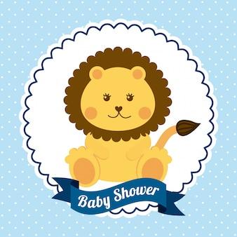 ベビーシャワーグラフィックデザインのベクトル図